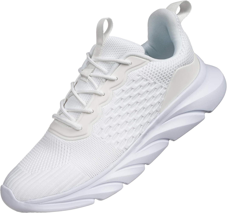   Akk Mens Lightweight Walking Shoes - Gym Running Sneakers Men Breathable Mesh Ultra Comfortable Athletic Fashion Jogging Sneaker for Tennis Workout   Walking