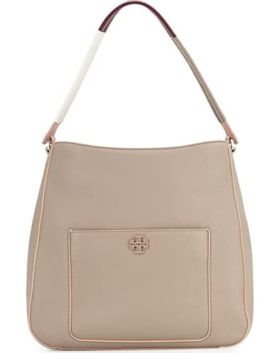 66c4d4e30fe7 Amazon.com  Tory Burch Berkeley Leather Hobo French Grey Tote  Shoes