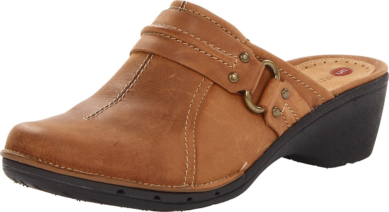 Amazon.com | CLARKS Women's UN.Rosella, Tan Leather, 9.5 M US | Mules &  Clogs
