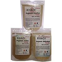 KHADI Omorose Combo of Amla, Reetha,and shikakai Hair Care - 100g X 3
