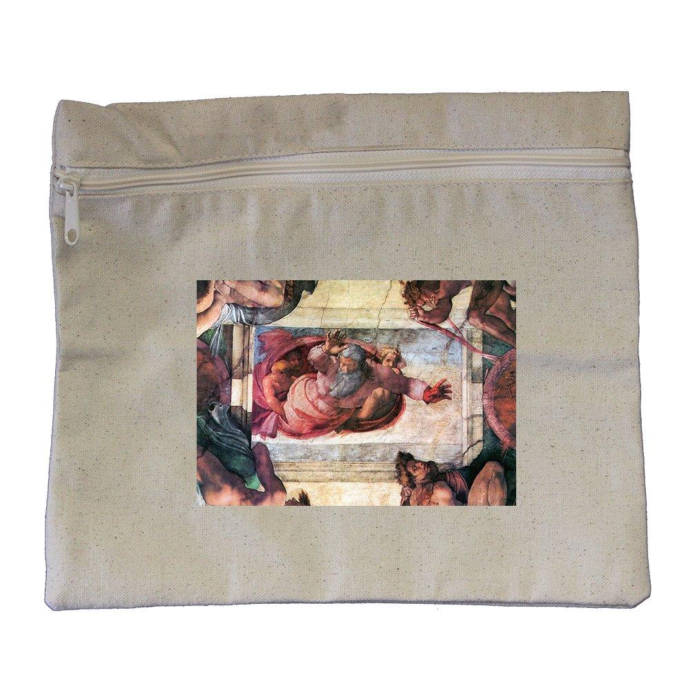 Creation Of Marine Animals (Michelangelo) Canvas Zippered Pouch Makeup Bag