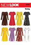 New Look 6567 Size A Misses' Dresses Sewing Pattern, Multi-Colour
