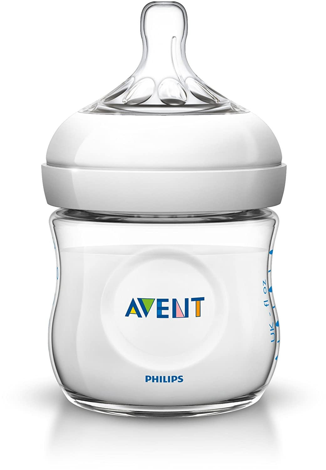 1 x 120 ml 1er Pack Philips Avent SCF671//17 Naturnah-Glasflasche transparent