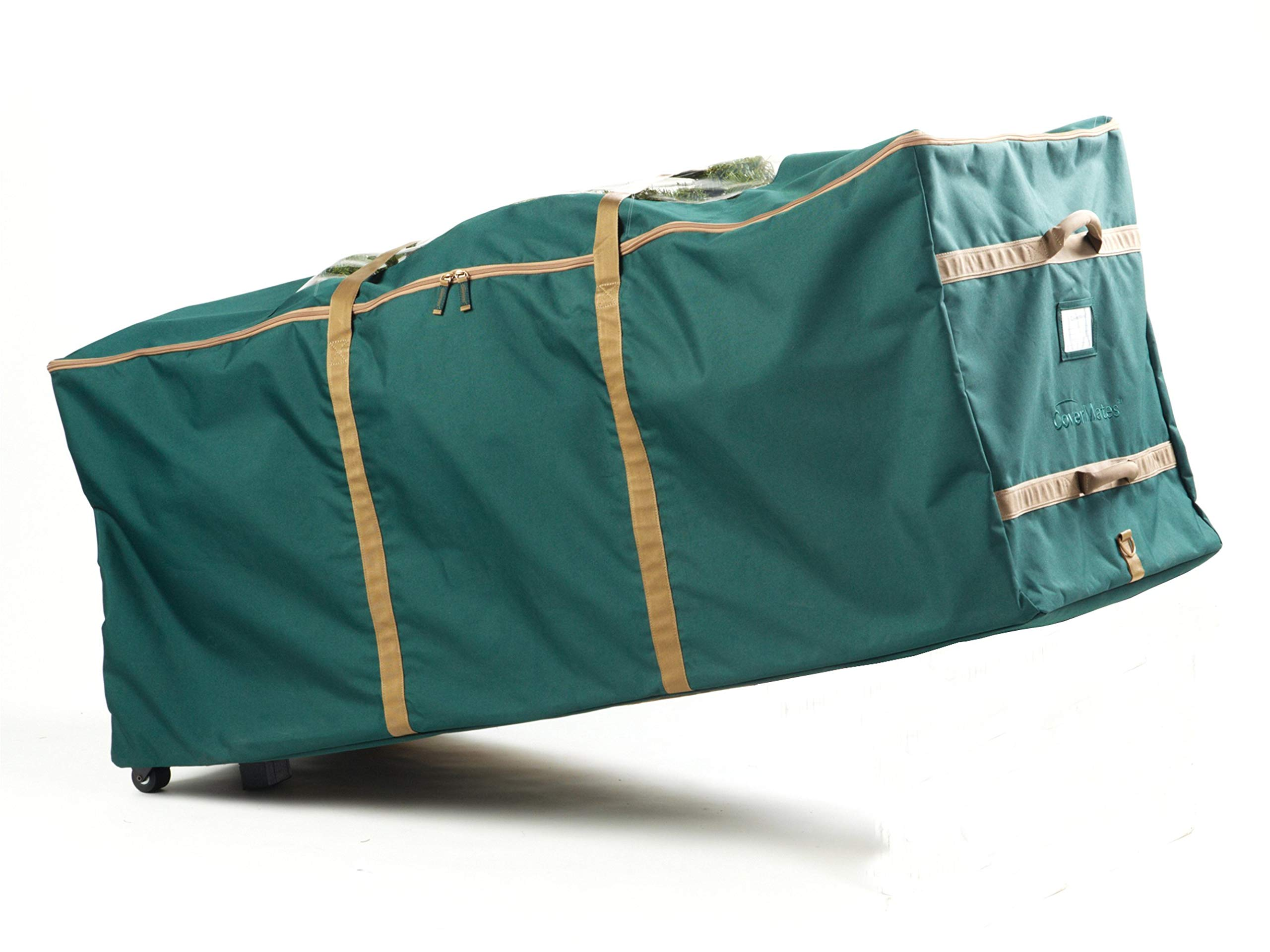 Covermates – Holiday Rolling Tree Storage Bag – Fits 9 to 11 Foot Tree – 3 Year Warranty- Green