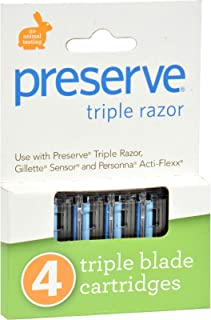 product image for Preserve 0826578 Razor Blades,Triple,Refil - Case of 6 - 4 Pk