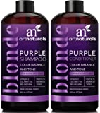 ArtNaturals - Color Balance and Tone Purple - Shampoo and Conditioner Set - (2x 16 Fl Oz 473ml)