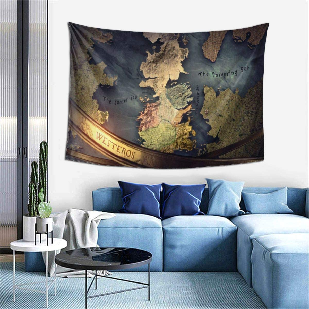 Ripepin Game of Thrones Horizontal Version World Map Tapestry Soft Wall Hanging Exquisite Classic Wall Tapestries Decorations Suitable for Home Living Room Dorm Art Wall Decor 40×60 Inch