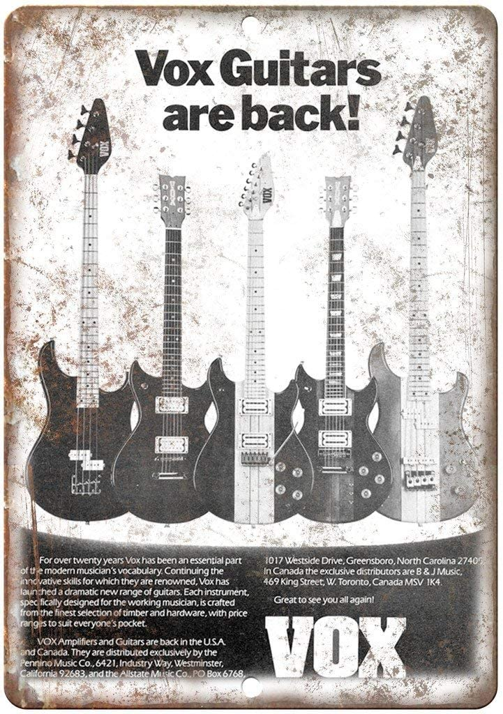 Laurbri Vox Guitars - Cartel de Metal para Revista de Instrumentos ...