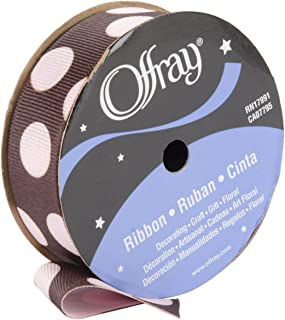 product image for Offray, Light Pink Random Dot Puff Craft Ribbon, 7/8-Inch x 9-Feet