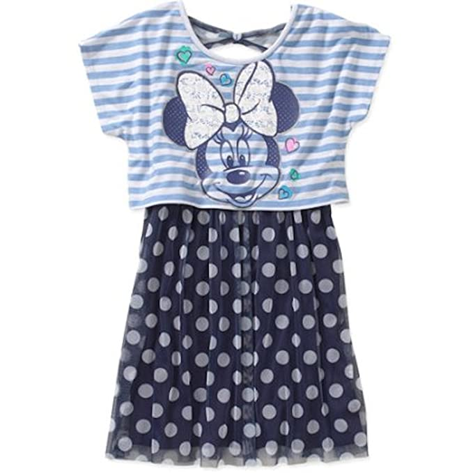 2a9195d22a9 Amazon.com: Disney Minnie Mouse Girls Popover Dress: Clothing