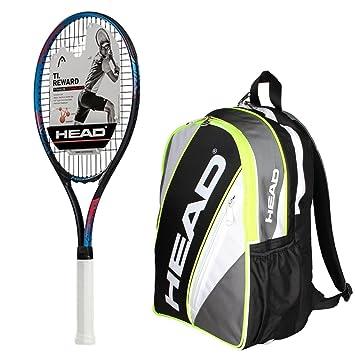 Head Ti. Recompensa pre-strung raqueta de tenis con un paquete de ...