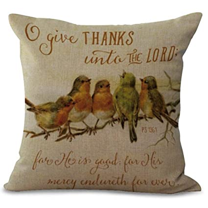 Clearance! Happy Thanksgiving Day Throw Pillow Cases Square Cafe Sofa Cushion Cover Home Decor 18x18 inch (G)