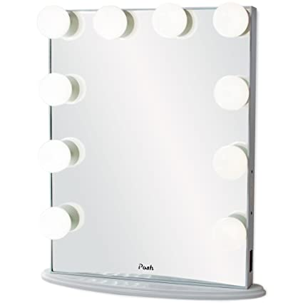 Amazon.com: Posh Hollywood Vanity Mirror, Ultra Slim Frame Lighted ...