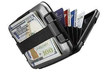 Sharkk Aluminium Porte Monnaie RFID Protégé Imperméable Porte Carte - Porte carte aluminium