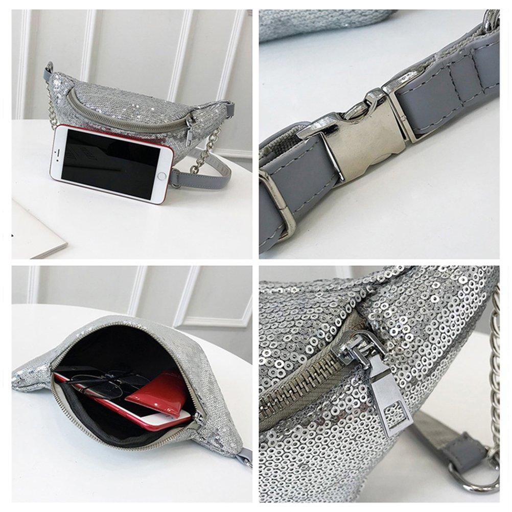 303fa32ccc64c7 BESTOYARD Mode Taille Tasche Shiny Bauchtasche Taille Tasche Sporttasche  Cross Body Handtasche für Frauen Mädchen: Amazon.de: Koffer, Rucksäcke &  Taschen