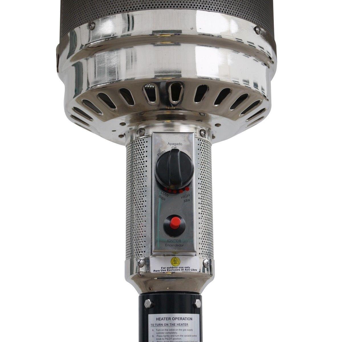Amazon.com : Garden Outdoor Patio Heater Propane Standing LP Gas Steel w/accessories BRONZE : Garden & Outdoor