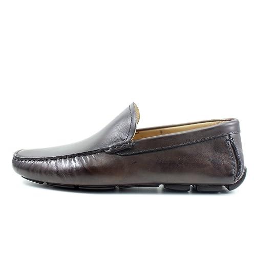 Giorgio Rea Zapatos para Hombre Car Shoes Marron Elegante Hombre Zapatos Hecho A Mano EN Italia Cuero Real Brogue Oxfords Richelieu Mocasines: Amazon.es: ...