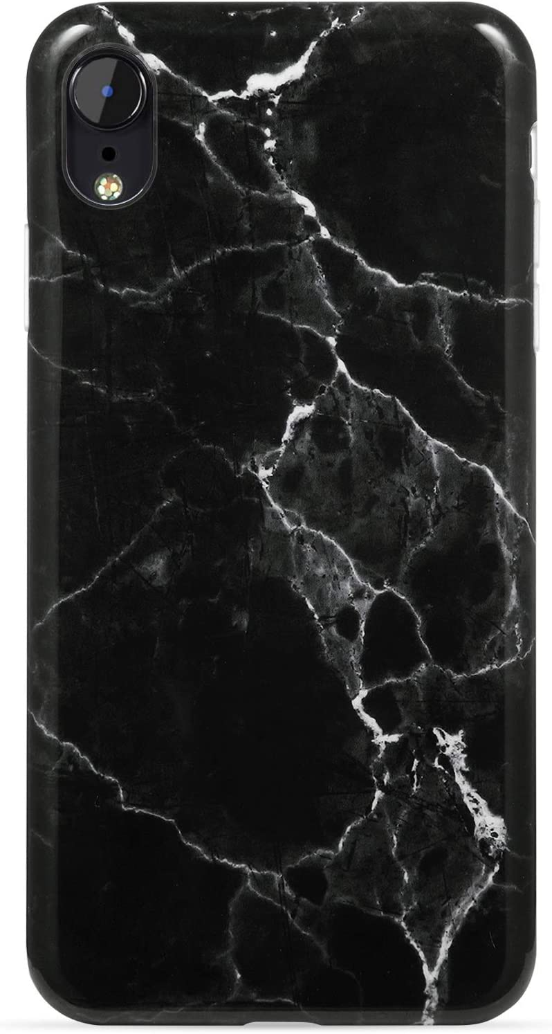 Amazon Com Vivibin Iphone Xr Case Black Marble For Men Girls Women Clear Bumper Soft Silicone Rubber Cute Glossy Tpu Cover Slim Fit Best Protective Thin Phone Case For Iphone Xr 6 1 Inch
