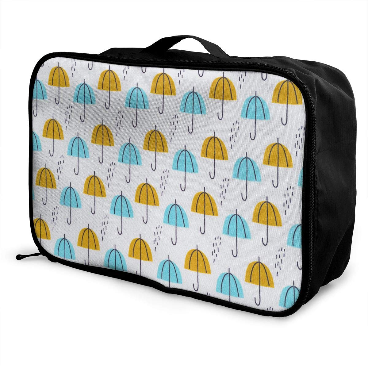 Travel Luggage Duffle Bag Lightweight Portable Handbag Umbrella Rain Print Large Capacity Waterproof Foldable Storage Tote