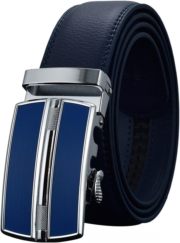 LOKOUO Fashion?Mens Belts Luxury Automatic Buckle Genune Leather Strap Black Brown for Men NEW Mens Belt Designers Brand