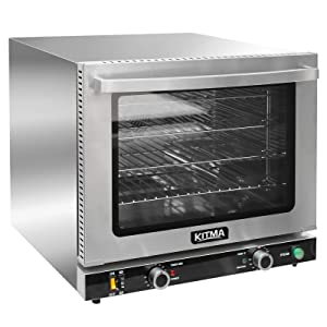 KITMA 66L Countertop Convection Oven - Commercial Toaster Oven with Steam Injection, 4 Racks, 2100W-2800W Efficient Heating, Stainless Steel, Silver