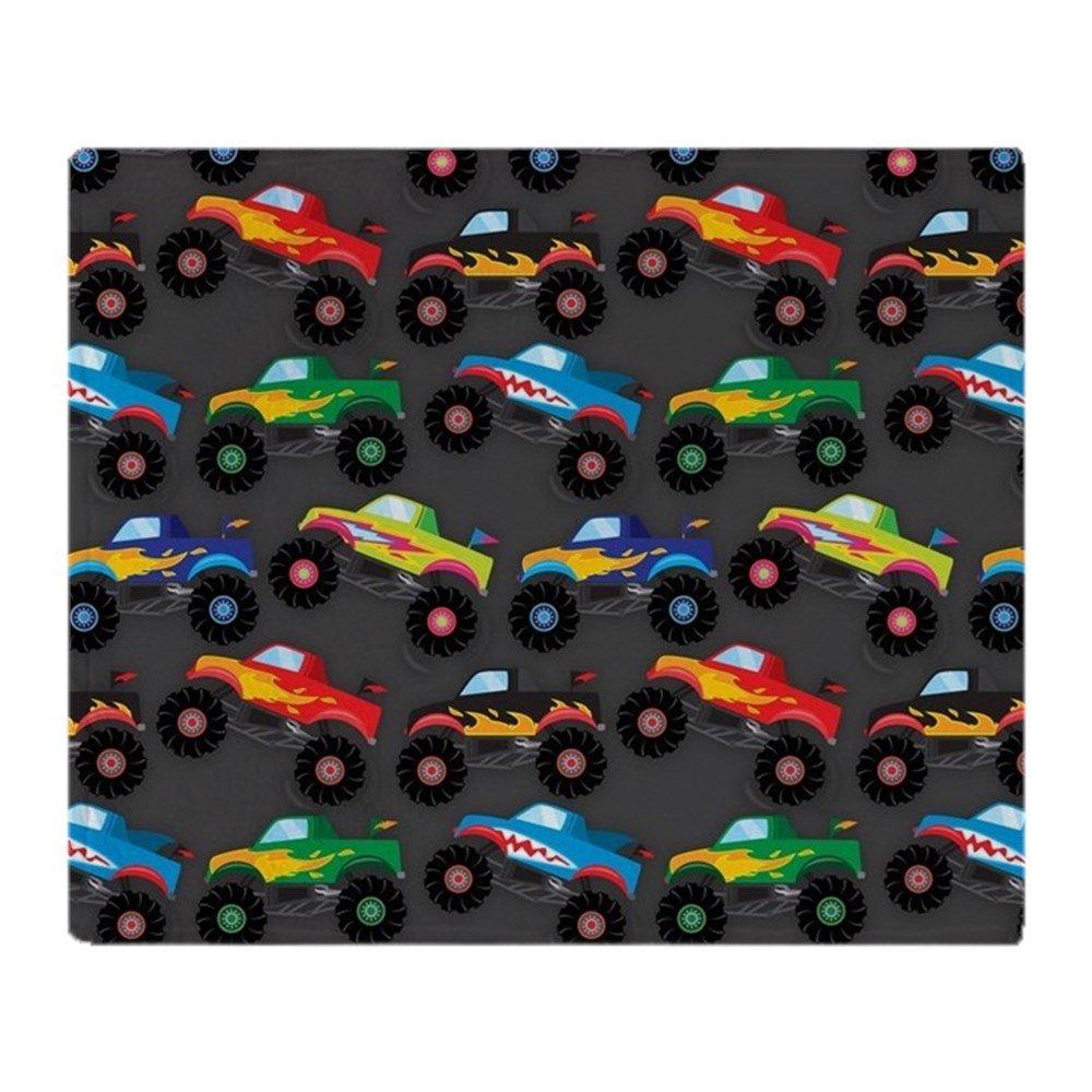 CafePress - Cool Monster Trucks Pattern, Colorful Kids Throw B - Soft Fleece Throw Blanket, 50''x60'' Stadium Blanket by CafePress