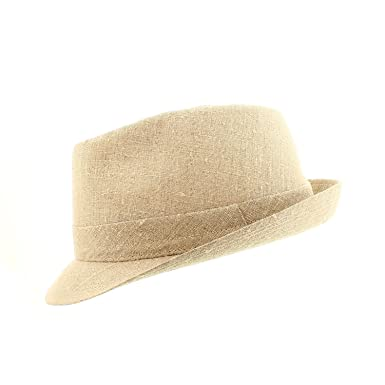votrechapeau - Trilby Hat - Small - Lucca - Trim Linen  Amazon.co.uk ... f5272b67863