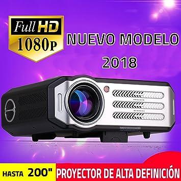 Proyectores, XSAGON Proyector Portátil 2200 lúmenes LED Mini Proyector Home Cinema Portátil Multimedia Cine en Casa con USB Multimedia HDMI VGA para ...