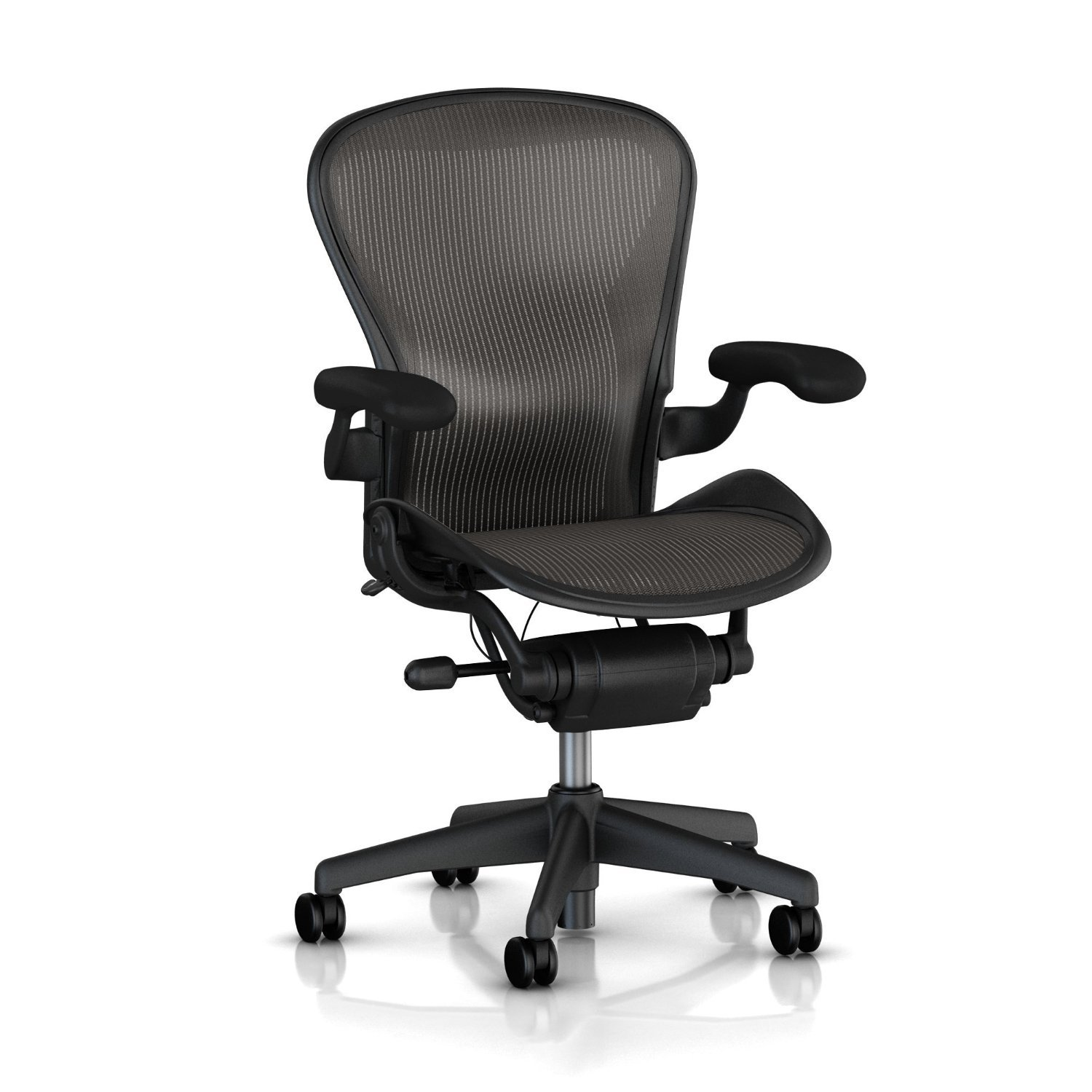 amazon com aeron desk chair basic color carbon medium