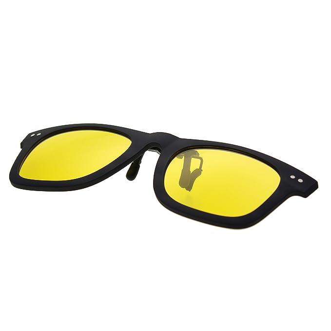 Amazon.com: zacway clip-on polarizadas anteojos de sol con ...