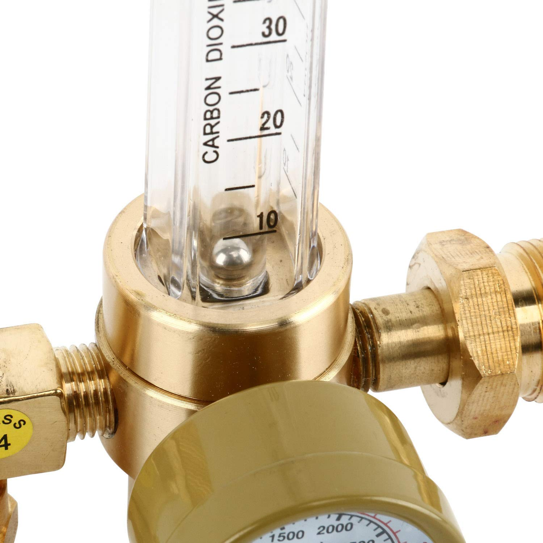 6.6FT YaeTek Argon CO2 Mig Tig Flow Meter Welding Weld Regulator Gauge Gas Welder CGA-580 with 80 Hose