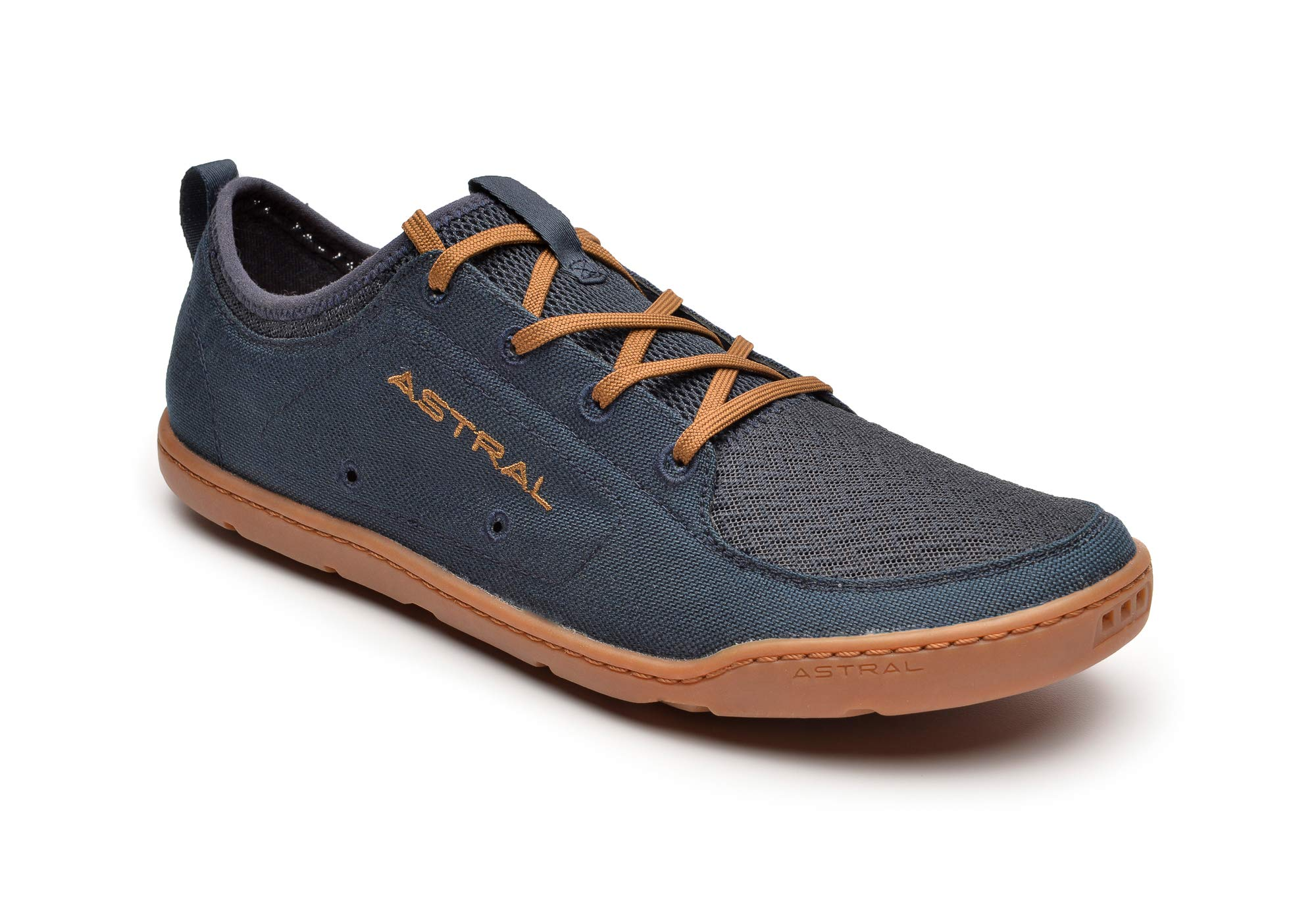 Astral Men's Loyak Everyday Outdoor Minimalist Sneakers, Lightweight and Flexible, Made for Water, Casual, Travel, and Boat, Navy/Brown, 9 M US by Astral