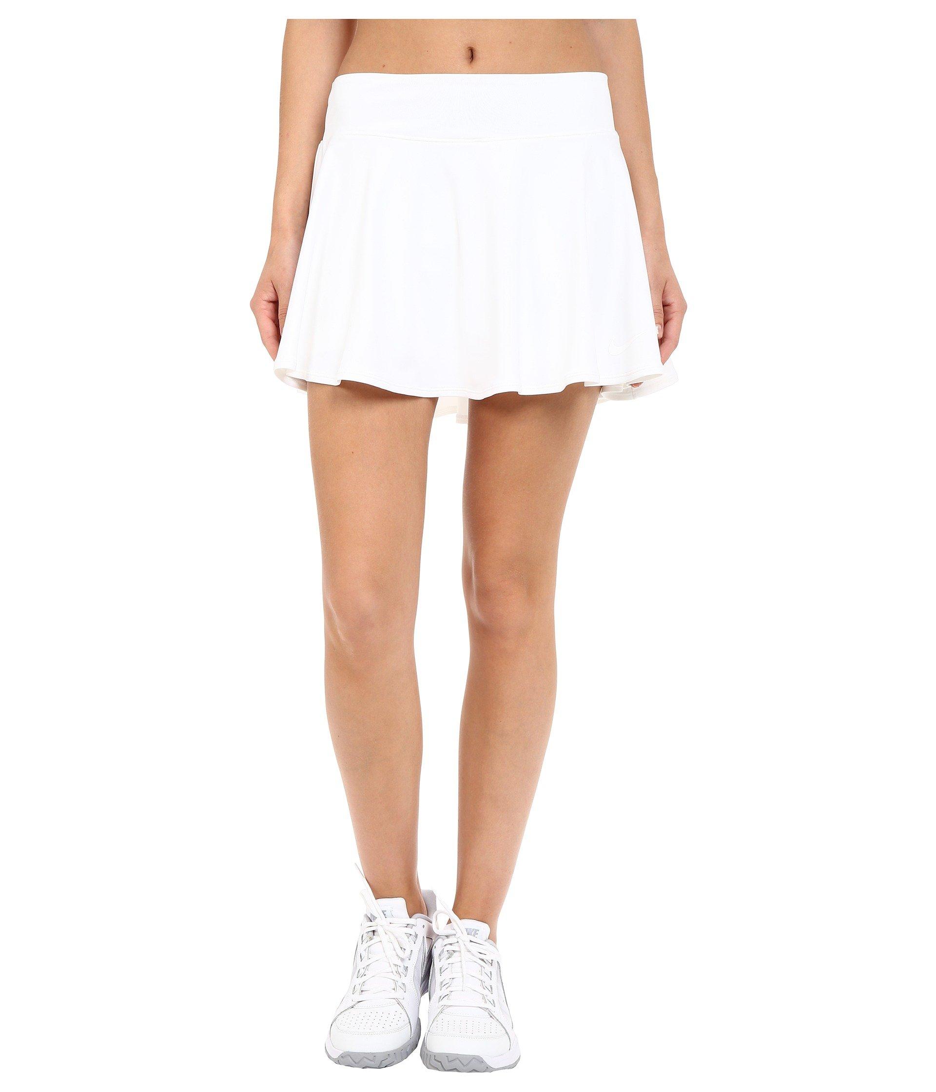 Nike Women's Court Baseline Tennis Skirt, White, LG