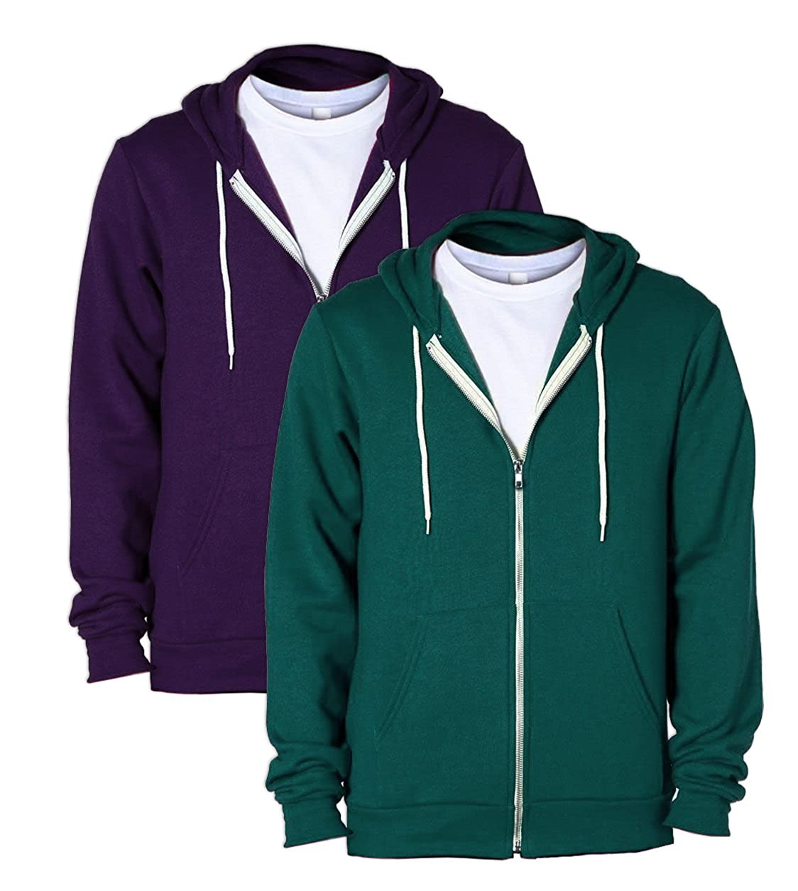 1 Imperial Purple American Apparel F497 Flex Fleece Zip Hoodie S 1 Forest