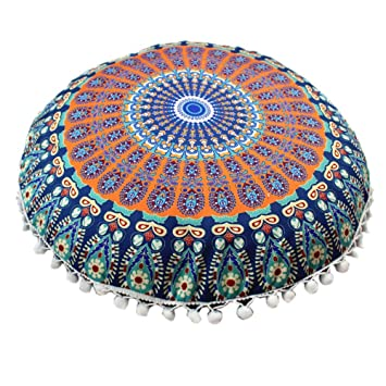 Amazon.com: Handfly Mandala Hippie - Funda de cojín para ...
