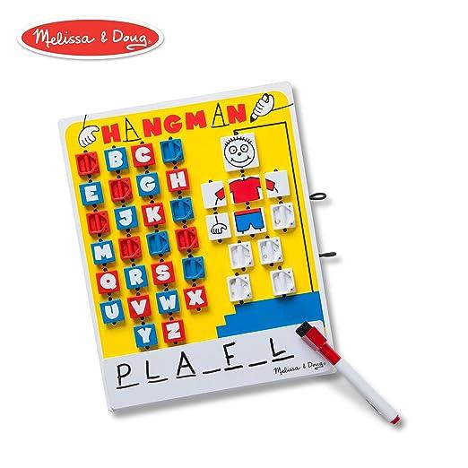01b18e649 Amazon.com: Melissa & Doug Flip-to-Win Hangman Travel Game (Wooden ...