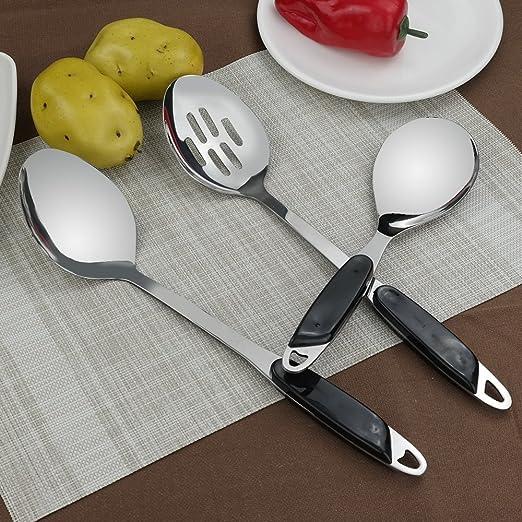 hommp - Juego de utensilios de cocina de acero inoxidable ...