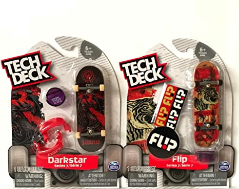 Amazon com: Tech Deck Darkstar & Flip Series 7 Fingerboard Toy