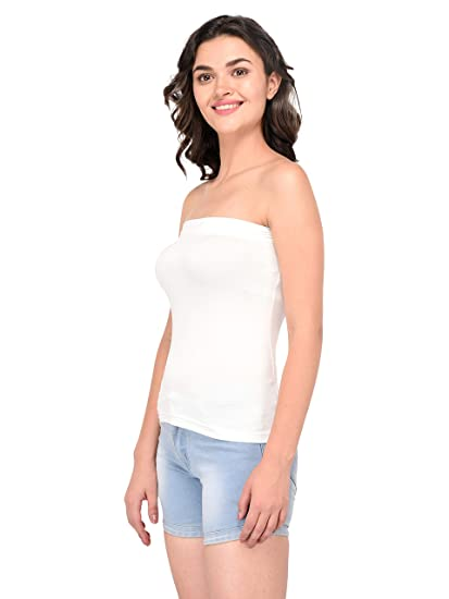 24ad8a77ea Espresso Women s Strapless Bandeau Tube Tops - Pack of 2  Amazon.in   Clothing   Accessories
