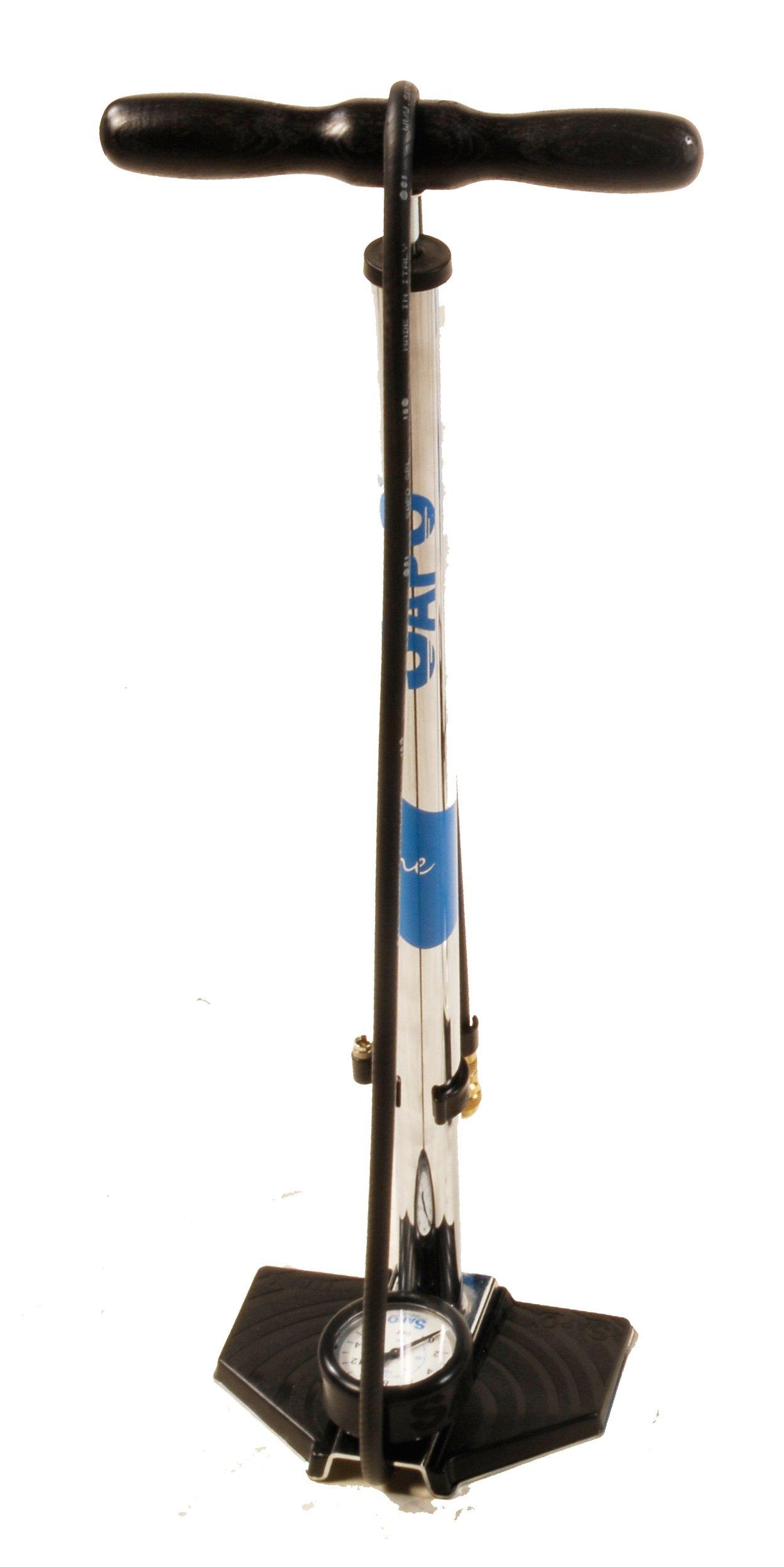 SAPO One Professional Chromated High Pressure Floor Pump