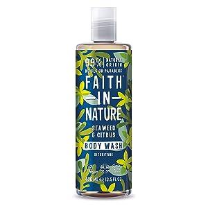 Faith In Nature Seaweed & Citrus Shower Gel & Foam Bath, 13.5 Oz