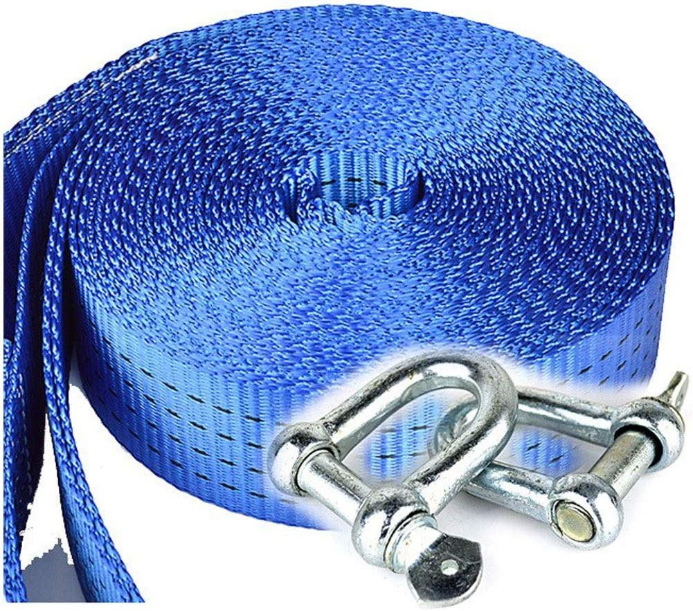 8 tons heavy 17,000 pounds strength traction rope LJFYMX tow rope Tow rope a car reinforcing ring rope