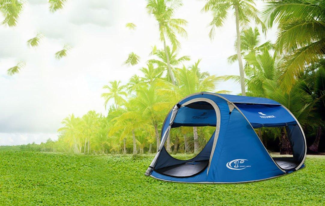 Ghlbes Tienda Pop-up de para acampar Juego autom/ático para exteriores de 4-5 personas Tienda instant/ánea Tienda de campa/ña Pop Up para lanzar de familia