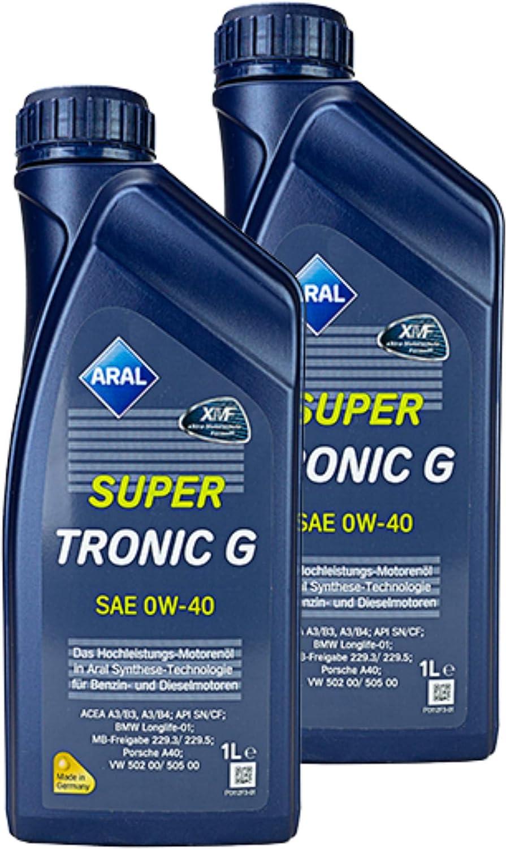 Aral 2x Supertronic G Sae 0w 40 1 L Öl Motoröl Motorenöl Schmiere Schmierstoff Auto