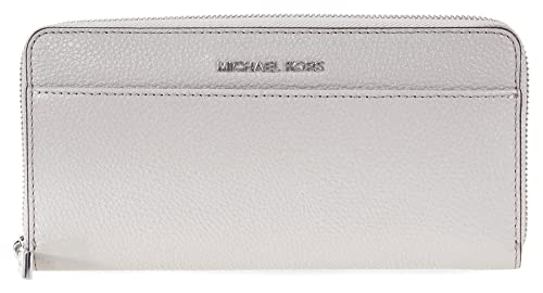 MICHAEL by Michael Kors Money Portafolio Pearl Gris de Cuero Pearl Grey one size: Amazon.es: Zapatos y complementos