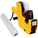 MX-5500 8 Digits Price Tag Gun 5000 White labels + 1 ink