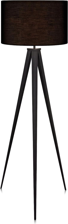 Versanora VN-L00006-EU Lámpara de Piso con Sombra, 50 W, Negro, 50x50x175.5cm
