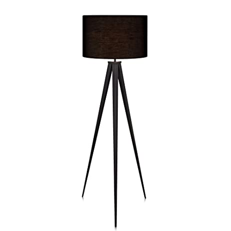 Amazon.com: Versanora Romanza Tripod Floor Lamp in Black: Office ...
