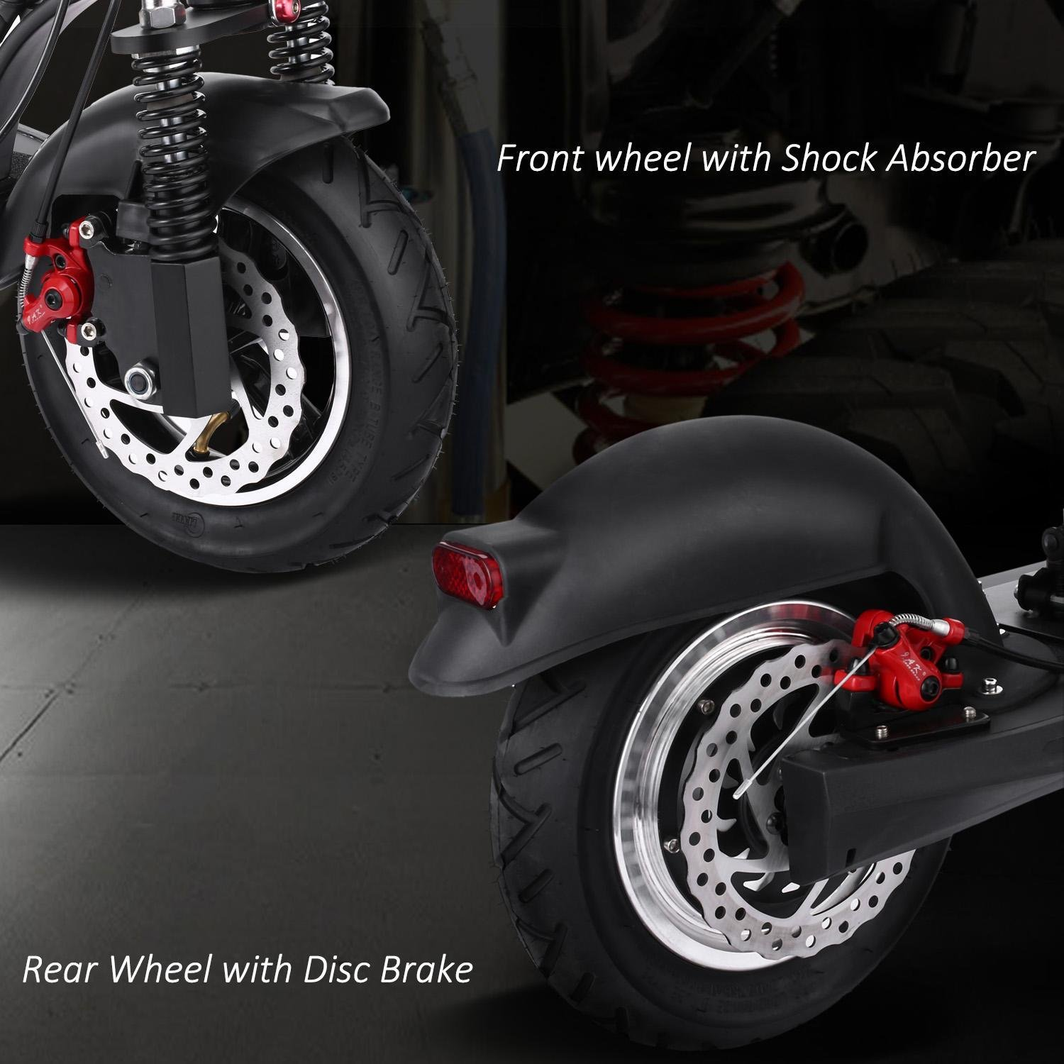 cooshional Patinete Scooter Eléctrica Plagable con Asiento ...