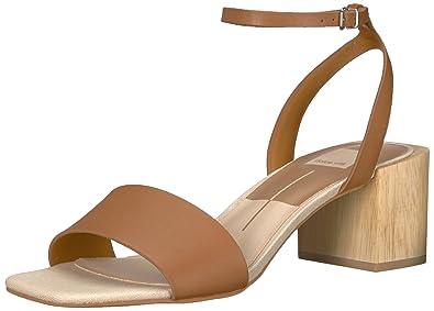 25c852b6ab Dolce Vita Women's Zarita Heeled Sandal, Caramel Leather, ...